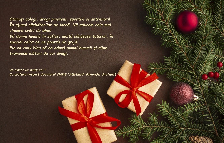 Sincere urări de bine în ajunul sărbătorilor de iarnă